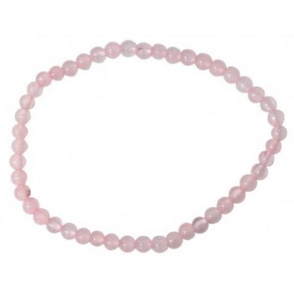 Bracelet perles quartz rose