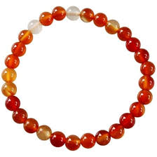 Bracelet perles cornaline