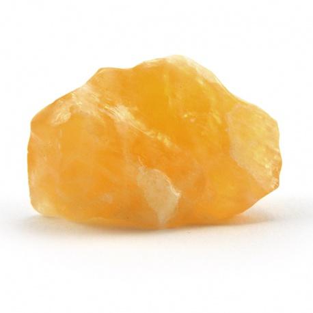 Pierre brute calcite orange