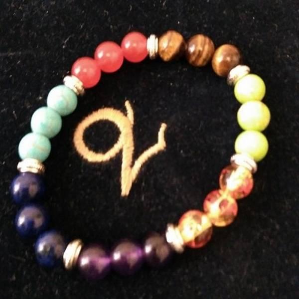 Bracelet perles 7 chakras