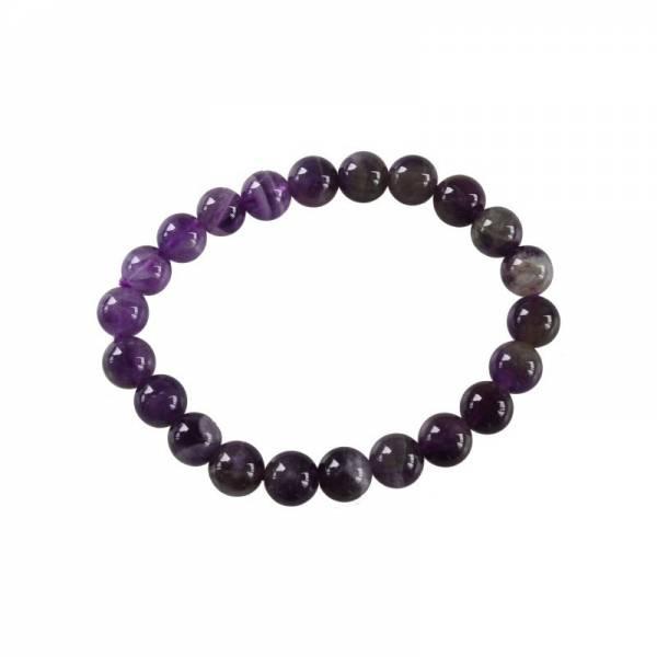 Bracelet perles améthyste 8mm