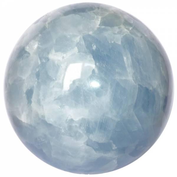 Sphère calcite bleue